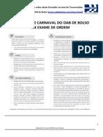 Simulado de Carnaval 1a Fase XIX Exame de Ordem