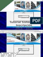 Tutorial Sistema de Inscripción