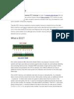 ECC Memory ECC memory.