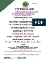2016 Race Night Order Form