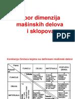IDTS-3 - Izbor Dimenzija MD i Sklopova
