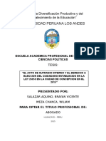 El Acto de Sufragio y El Derecho a Eleccion Del Ciudadano Establecido en La Ley 26859