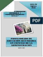 Profesorado en Ciencias de La Administración