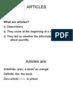 Articles Unit 10