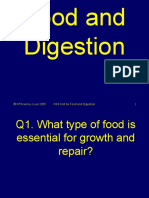 8a Food Digestion Science Quiz