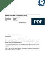 Radio Interface Engineering Rules