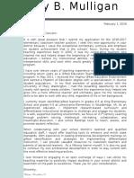 teaching portfolio cover letter 2016