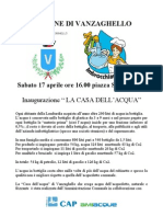 """Inaugurazione """"Casa dell'acqua"""" di Vanzaghello"""