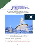 CUVANT de LA MANASTIREA PUTNA Pentru o Infruntare Duhovniceasca a Anului 2015