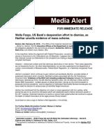 Wells Fargo, US Bank's desperation effort to dismiss, as Harihar unveils evidence of mass scheme