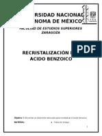 informe cristalización