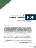 HERNÁNDEZ SANCHEZ-BARBA, Mario - El Americanismo Del Conde de Floridablanca