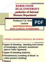 Gastroenterology & Its Main Clinical Syndrome