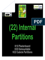 Internal Partitions - Presented to Architecture Students