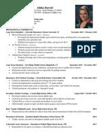 alisha barrett - current resume  1-30-16