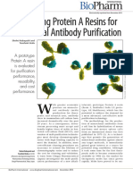 Comparing Protein a Resins for MAb Purification