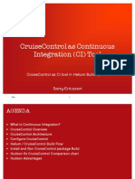 Cruise Control as CI Tool-Analysis