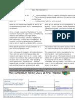 symposium proposal
