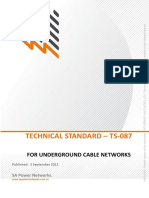 Ts087 Construction Standard Uground Cable Networks