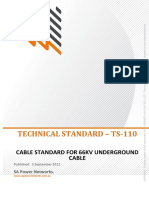 Ts110 Cable Standard for 66kv Underground Cable