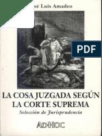 Amadeo, Jose Luis - La Cosa Juzgada. Segun La Corte Suprema