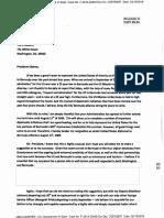 US Consul General Slayton's Letter to President Obama Bermuda Feb 20 2016