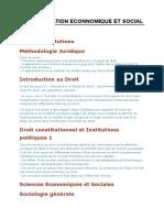 Administration Econnomique Et Social