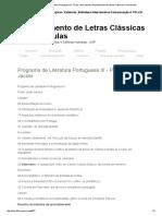 Programa de Literatura Portuguesa III - Profa