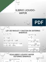 Equilibrio Liquido Vapor
