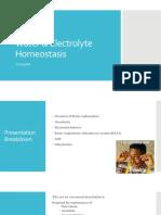 water   electrolyte homeostasis