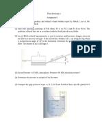 Assignment Hydrostatic Pressure