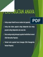PERSYARATAN ANAVA - Biostatistik