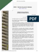 Maués, Sheila. 'Percurso Visual Da Poesia Ou a Diacronia Do Moderno Poético' (Artigo) - ZUNÁI- Revista de Poesia & Debates (2009)