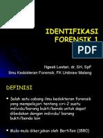 Identifikasi Forensik 1 FK UB 2012-2013