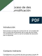 Proceso de Des Humidificación