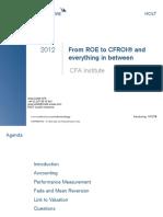 Roe to Cfroi Greg Collett,Cfa 3.10.12