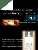 Aula 01 - História da arquitetura e do urbanismo do clássico ao barroco