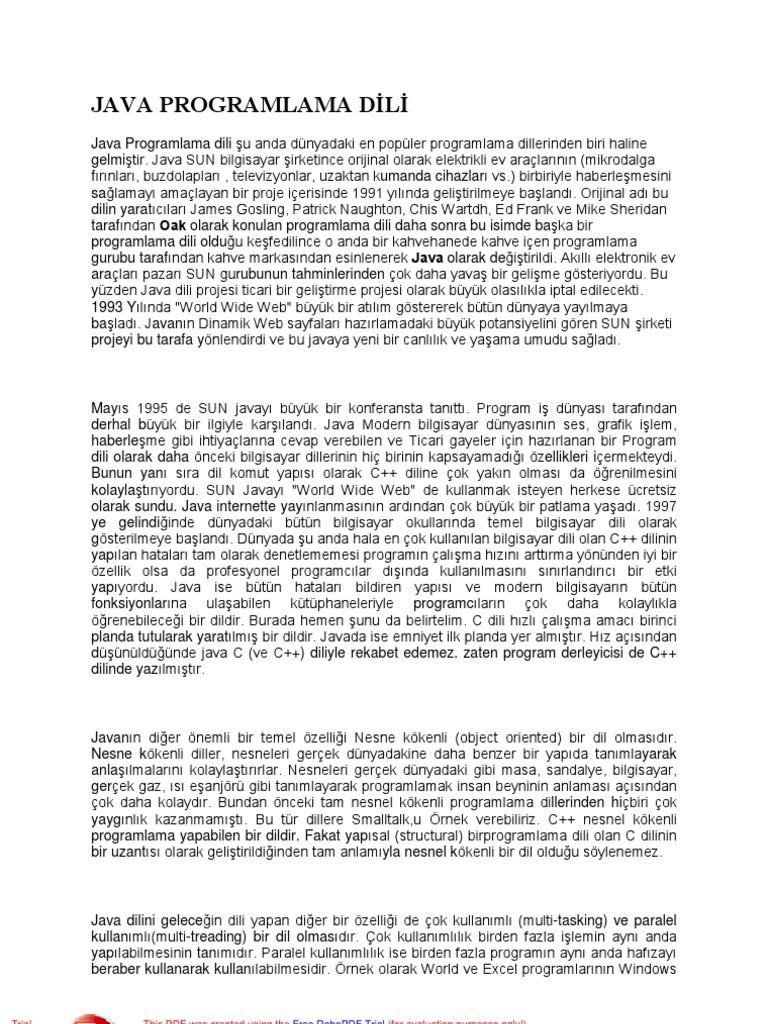 Java Kitap