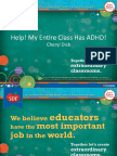 Help! My Entire Class Has ADHD! Handout