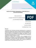 Gómez, J. Et Al (2011). Acerca de Autoridad, Resitencia y Desobediencia... (Ponencia)