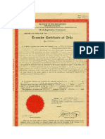 Deed of Land Title - The Mistress
