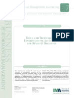 Tools and Techniques of Environmental Accounting for Business Decisions