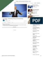 Tony Buzan - Embracing Change and Goal Setting - YouTube