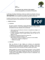 ANÁLISIS LITERARIO DEL ANTIGUO TESTAMENTO Unidades Literarias Mas Pequeñas y Su Contexto de Formación
