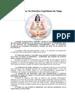 Notas Para Tu Práctica Espiritual de Yoga