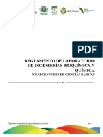 Reglamento de Laboratorio