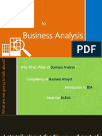 Introduction to businessanalysis