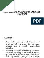 MANOVA and Sample Report