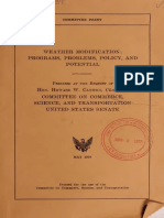 Weather Modification Programs Probems Policy and Potential Howard w Cannon 1977