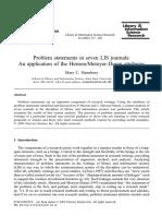 Problem Statements in Seven LIS Journals